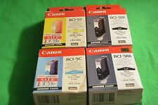Canon Genuine Original BJC-8200 4 x Inks 1 x Cyan Yellow 2 x Black  BCI-5 C Y BK