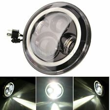 "7""Inch 40W Round LED Headlights Halo Angle Eyes For Jeep Wrangler JK LJ 97-2015"
