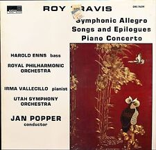 ROY TRAVIS SYMPHONIC ALLEGRO SONGS EPILOGUES PIANO CON. ORION 76219  SEALED LP