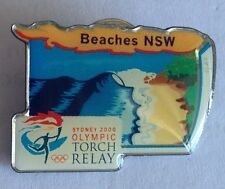 Beaches NSW Sydney 2000 Olympics Torch Relay Pin Rare Collectable (F3)
