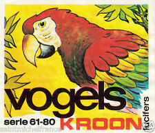 2. Ara rouge Ara macao - Scarlet Macaw MATCHBOX LABEL CARD IMAGE 1973