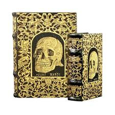 Book Box Set Skull Decorative Secret Stash Jewelry Chest