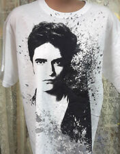 Twilight Edward Cullen White T-Shirt- Size MEDIUM- FREE S&H (TWTS-015)