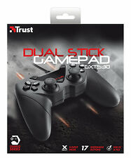 NEW TRUST CROSSFIRE GAMEPAD 17518, 2 JOYSTICKS, FOR PC & PS3