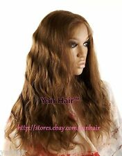 """100% PREMIUM INDIAN REMY HUMAN HAIR 18"""" #6/8 FULL LACE WIG BODY WAVE"""