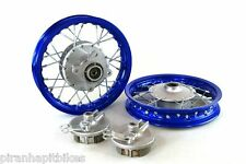 "Blue Front & Rear Alum wheels rims 10"" 10 inch CRF50 XR50 Pit Bike Stock Drum"