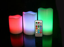 Flameless LED Colour Changing Candle Battery Operated Wedding Lights Kidsafe