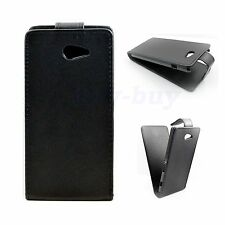 Stylish Black Leather Magnetic Case Cover Pouch For Sony Xperia M2 D2306 Experia