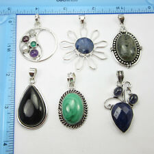 TRADITIONAL !! FREE SHIPPING ! 925 Silver Overlay 6pcs Pendant FACTORY DIRECT