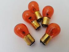 Lot of 5 Everbrite 1157NA Natural Amber Automotive Lamps Light Bulbs 12V 32/3CP