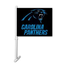Carolina Panthers Black Car Flag