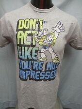 Mens Licensed Toy Story Buzz Light Year Don't Act Not Impressed Shirt New M