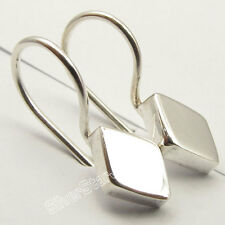 925 Solid Silver HOLLOW Earrings 1.8CM Unusual Indian Beautiful Jewellery