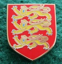 England Richard The Lionheart 3 Lions Coat of Arms Pin Badge