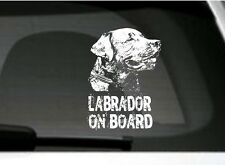 Labrador On Board, Car Sticker, High Detail, Great Gift For Dog Lover