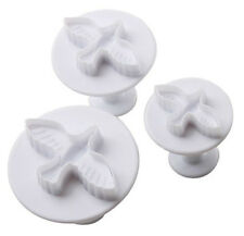 Dove Bird Plunger Cookie Cutter 3 pc Set - NEW