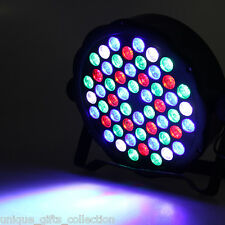 UNIQUE -4 Control Modes LED DMX Stage Light AC 110 - 220V 54 x 1.5W RGB LED