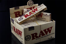 Raw CLASSIC KING SIZE Connoisseur Rolling Papers + Tips, 24packs/FULL BOX