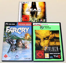 3 PC SPIELE SET - FEAR - FAR CRY - STALKER - SHOOTER S.T.A.L.K.E.R. F.E.A.R.