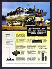 1994 Amphibious Vehicle 'Surface Orbiter' photo Clarion Car Audio promo print ad