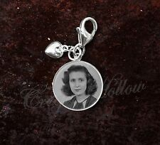 925 Sterling Silver Charm Your Custom Image Keepsake Photo Picture