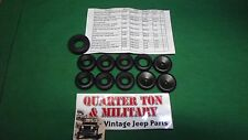 Jeep Willys GPW MB CJ2A WWII Fire wall Grommet set complete G503