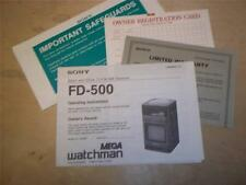 Original Sony FD-500 Watchman Owner Manual~TV Receiver~Operating Instructions