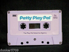 PATTY PLAY PAL DOLL AUDIO CASSETTE TAPE THE PLAY PAL DETECTIVE AGENCY 1987 WORKS