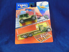 scarce 1992 Corgi Juniors Twin Pack No 92627 Nato Jeep & Nato Flatbed lorry