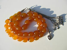 XXL 75 GR. Bernstein Gebetskette Amber Prayer Beads  مسباح KORAN ARAB* سبحة مس