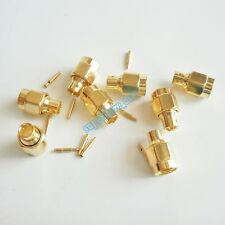 "10Pcs SMA solder plug Male straight connector For semi-rigid RG402 0.141"" cable"