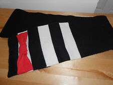 KATE SPADE HUDSON STRIPE BOW WOOL SCARF BLACK CREAM RED NWT