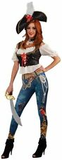 "Adult Ladies Renaissance HALLOWEEN COSTUME ""Pirate Booty"" LARGE 16-20 Five Piece"