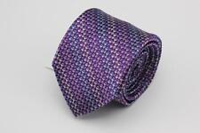 NWT XMI PLATINUM Silk Tie. Purple & Blue Stripes.