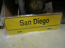 SAN DIEGO LICENSE PLATE TOPPER  MADE OUT OF METAL