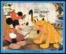 Maldives 1982 disney/pluto/mickey/caricatures/animation/films/chiens 1v m/s (d00147)