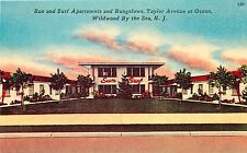 WILDWOOD BY THE SEA SUN AND SURF APARTMENTS TAYLOR & OCEAN POSTCARD