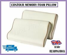 2x GRANDE Contour MEMORY FOAM PILLOW orthapedic HEAD Supporto Collo copertura gratuita