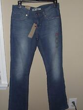 NWT Levi 5M/27 Slim Bootcut Jeans 524 Ultra Low Rise Medium Wash Faded Women