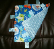 Baby Stars Security Tag Minky Comfort Blanket SIze 10in x 10in New