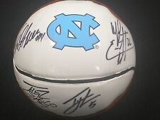 Tyler Hansbrough Ty Lawson Danny Green Wayne Ellington 4x Signed UNC Mini Basket