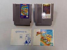 DuckTales & Gauntlet II w/ Manuals - x2 NES Nintendo Games & Dust Covers