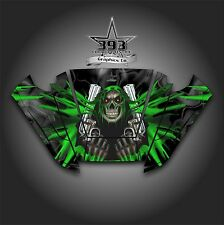 Arctic Cat Wildcat Trail Graphic Decal Kit Wrap Hood Unleashed Black Green