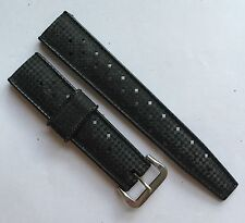 NOS Tropic diver racing waterproof rubber strap Swiss made 19mm