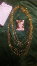 "Melania Trump Gold tone Bead Chain Necklace Approx 24"" long/extender    L3"