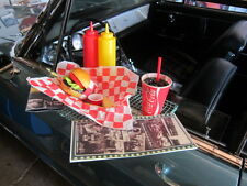 VINTAGE CAR HOP TRAY PACKAGE /  COMPLETE FOOD & DRINK CHECK IT OUT