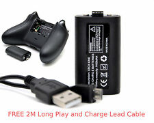 XBOX ONE Rechargeable Battery Pack +2M Long Charge Lead Cable for Controller Pad