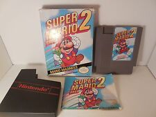 Super Mario Bros. 2 Nintendo Entertainment NES Cleaned and Tested CIB Box Manual