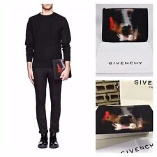 Rare & Great Givenchy Multicolor Doberman Print Leather Trimmed Canvas Pouch