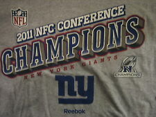 New York Giants REEBOK 2011 NFC Champions T-Shirt Adult XL